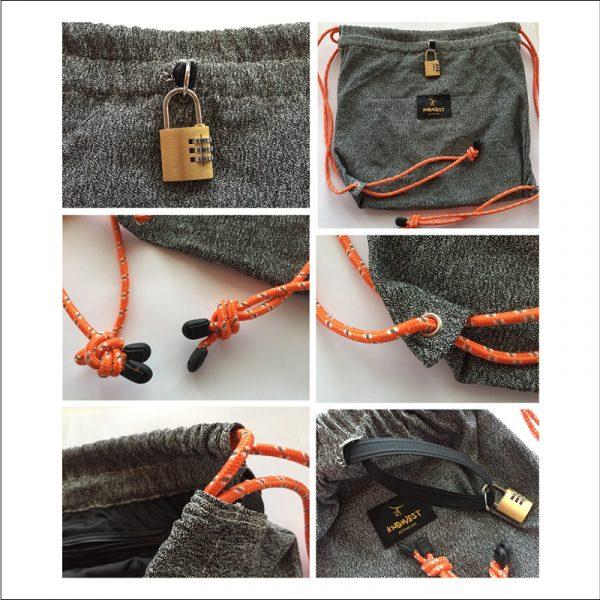 Anti Theft Drawstring Backpack