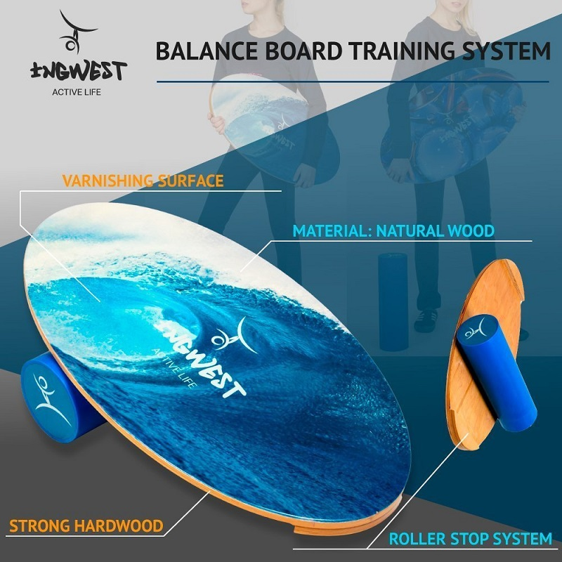 Balance Board Training System for snowboard, surf, ski, skateboard, dance.