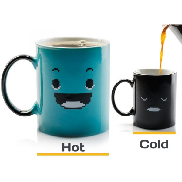 Morning Coffee Mug. 11 ounce. Changing Color Mug for you and your friend.