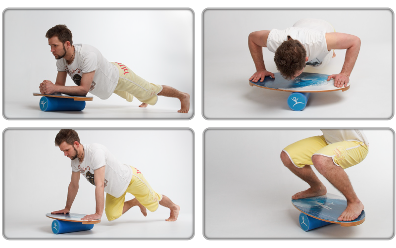Wooden Balance Board Trainer with Roller