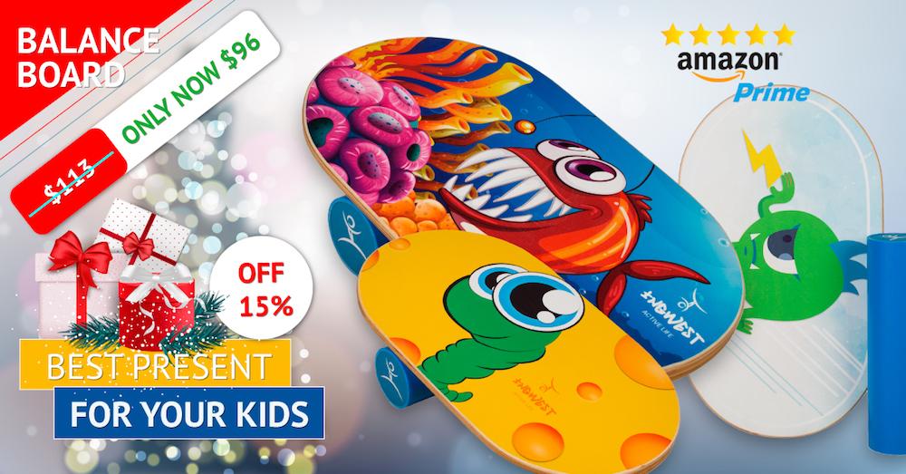 Balance Board For Kids (Crazy Fish)