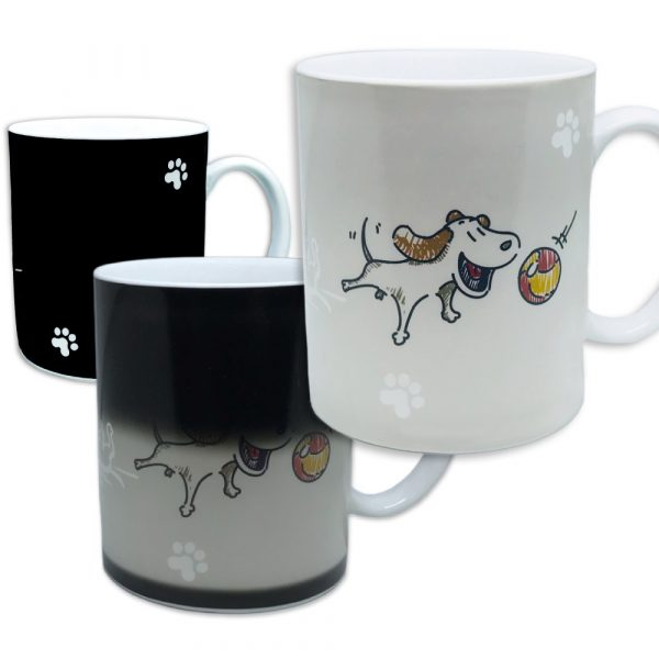 Morning Coffee Mug — Friendly Dog. 11 ounce. Changing Color Mug for you and your friend.