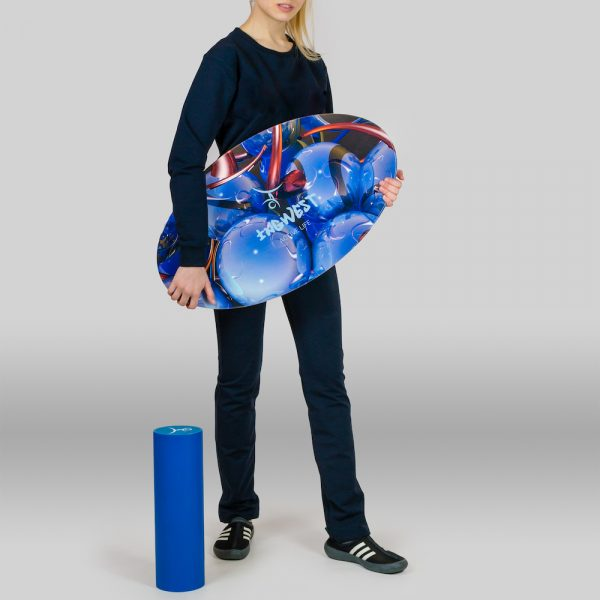 Wooden Balance Board Trainer with Roller. Island Design. 15.7 x 27.5 in.