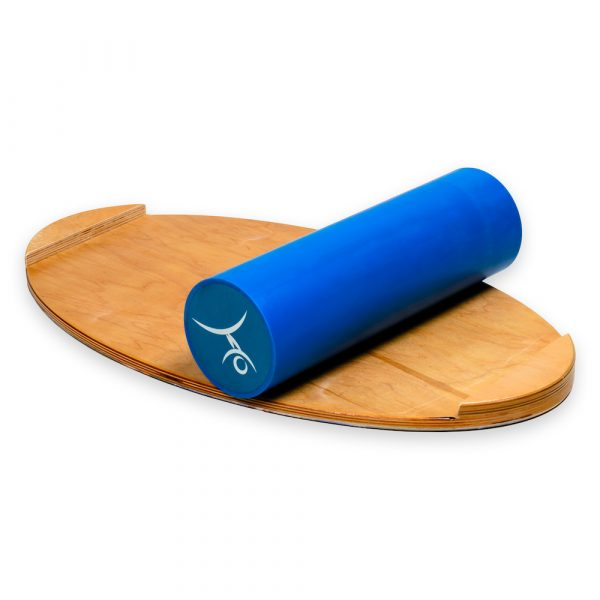 Wooden Balance Board Trainer with Roller. Shark Design. 15.7 x 27.5 in.